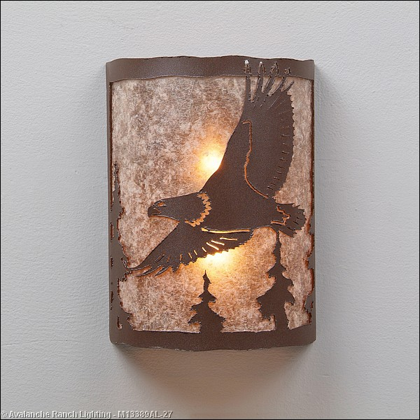 Rustic Lighting with Eagle
