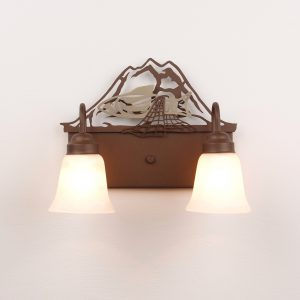 Custom Bath Light with Nisqually Indian Tribe Logo