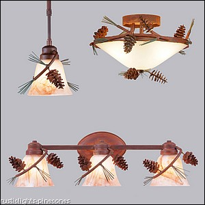 Rustic Pine Cone Lights