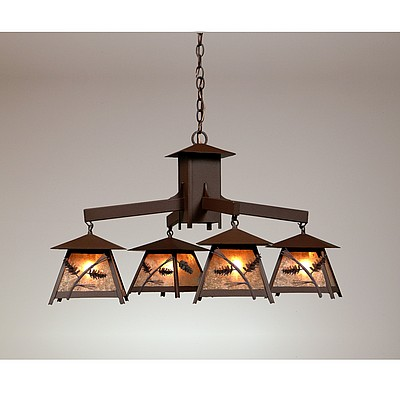 Chandelier Ski Cabin Style Made In, Chandelier Hanging Mountain