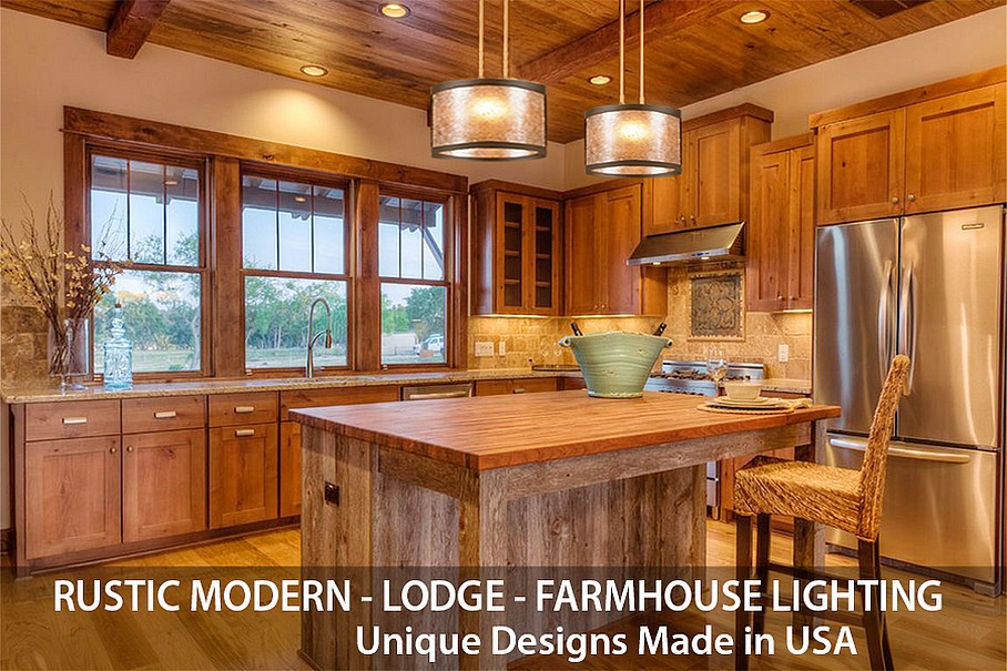 Rustic Lodge and Farmhouse Lighting