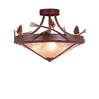 Pine Cone Semi-Flush Lights